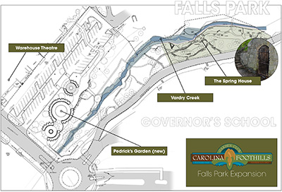 Click for Falls Park extension site plan