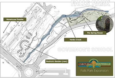 Click for Falls Park extension site plan