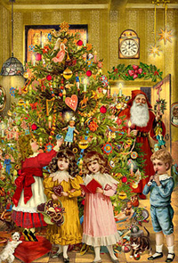 The Victorians knew how to decorate for Christmas.
