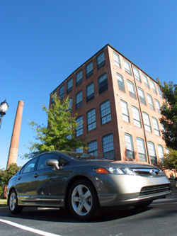 The 2008 Honda Civic EX, back home at The Lofts.