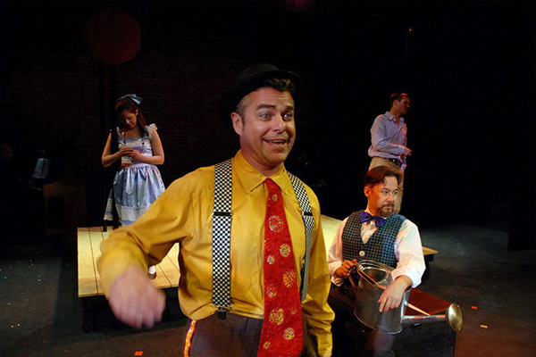 Michael Brocki (foreground) as Hucklebee, with Tim Brosnan as Bellomy in the background. (Click for larger version in new window.)