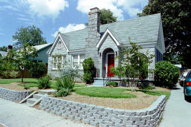 3431 Wheat Street, shortly after landscaping in 2002.