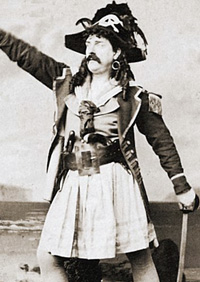 Richard Temple as the Pirate King in 1880.
