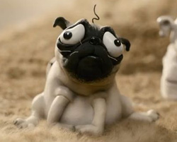 "In the incredibly charming claymation movie ""Mary and Max,"" Mary dreams of marrying a man named Earl Grey, living in a castle in Scotland and having nine kids and a dog named Kevin. This is Kevin. Its doleful expression reminds me of the dog that followed me downtown this afternoon."