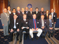 A 14-member panel convened November 12, 2007 at the National Press Club in Washington, DC to call for governments to cooperate in studying the UFO phenomenon. Former two-term governor of Arizona Fife Symington moderated the panel.