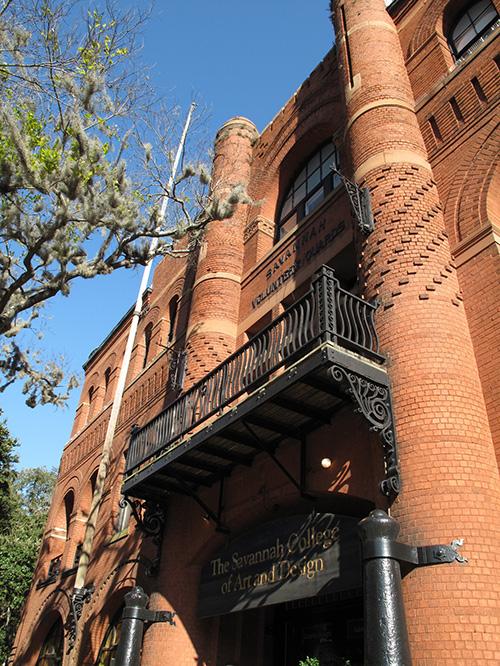 The Savannah College of Art & Design, or SCAD, at 342 Bull Street in Savannah.