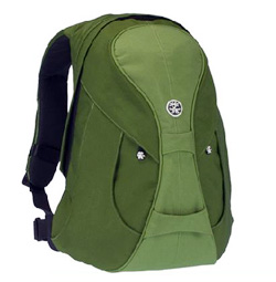 The green Crumpler backpack