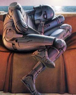 Cover art for Isaac Asimov's Robot Dreams.