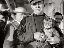 Melvin Vaniman & his cat