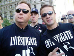 Alex Jones (left) believes that 9-11 was an inside job. Does that make him a conspiracy nut?