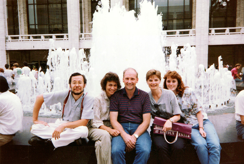 "The cast of ""Relative Madness"" at Lincoln Center in 1991. No, we didn't perform there. (Click image to up-rez.)"