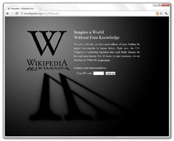 A day of mourning - or warning - at Wikipedia