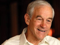 Ron Paul, wearing his invisibility cloak