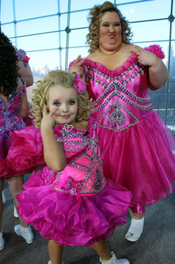 "Beauty pageant veteran Alana Thompson (aka ""Honey Boo Boo Child"") with her mother June"