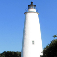 The Ocracoke Lighthouse is just a short walk down Lighthouse Road from our Inn.