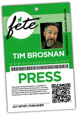 Fete Magazine press badge