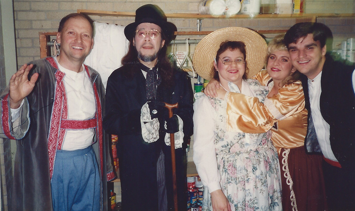The cast of Baillie's Babes In Toyland, somewhere in Louisiana, circa mid-1990s.