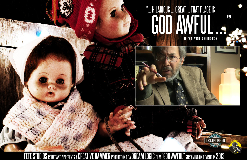 GOD AWFUL film poster detail