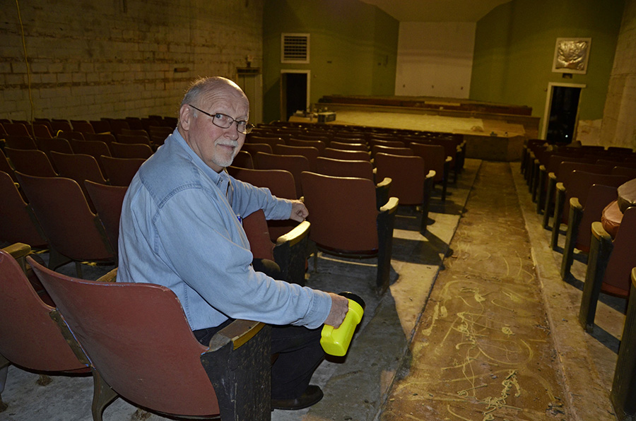 Buren Martin now owns the former movie theater where he ran projector as a teenager in the early 1960s.
