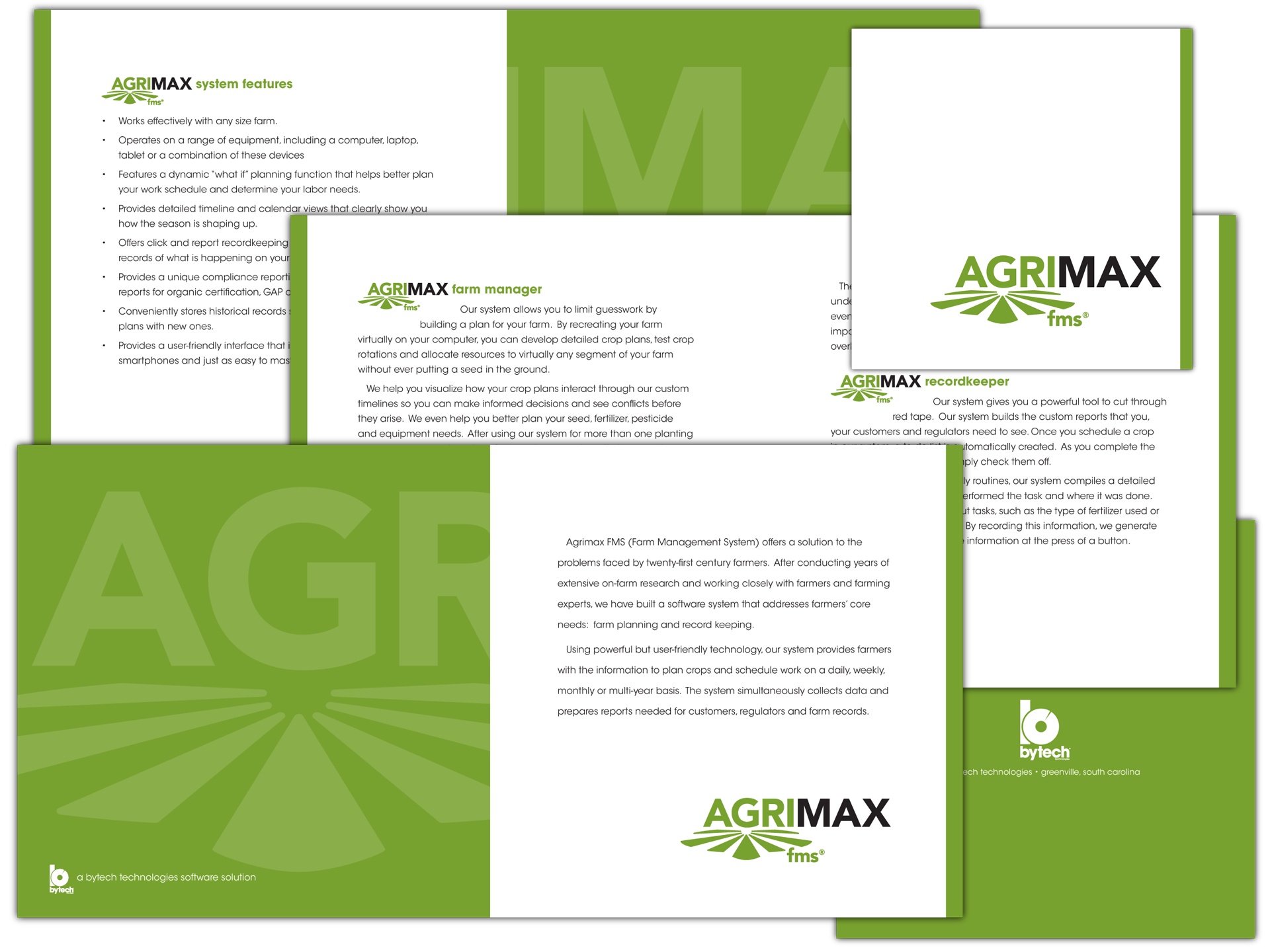 Branding and layout for Agrimax brochure