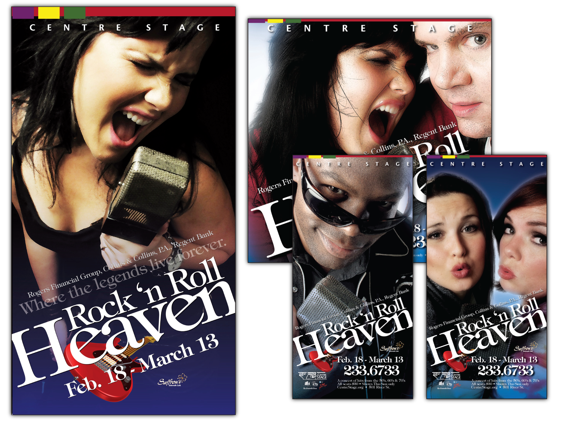 """Concept, photography and layout for production of """"Rock 'n Roll Heaven"""""""