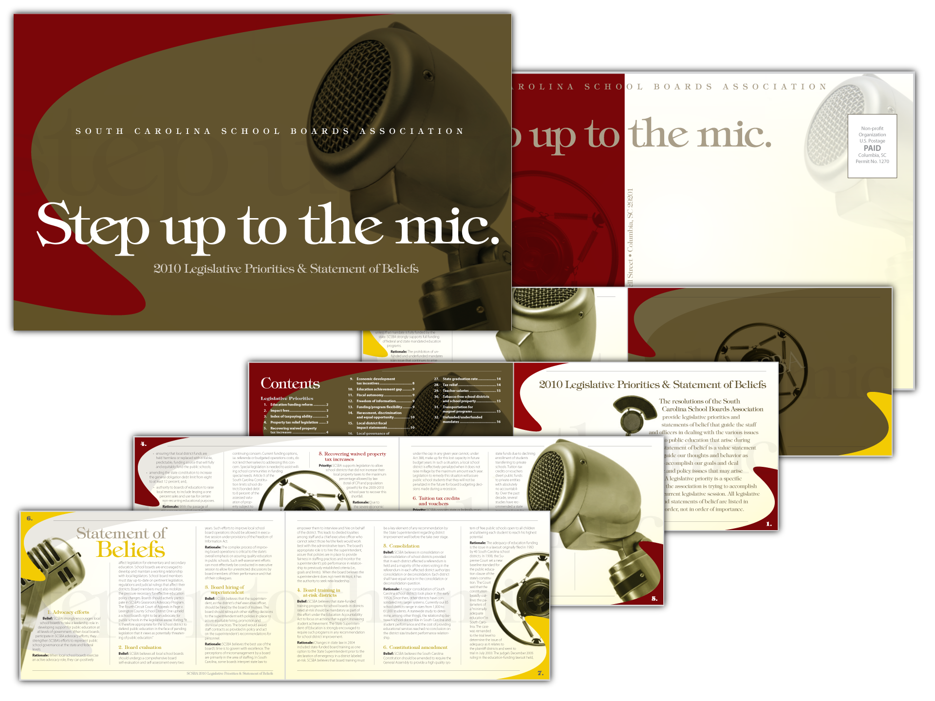Layout for 16-page self-mailer
