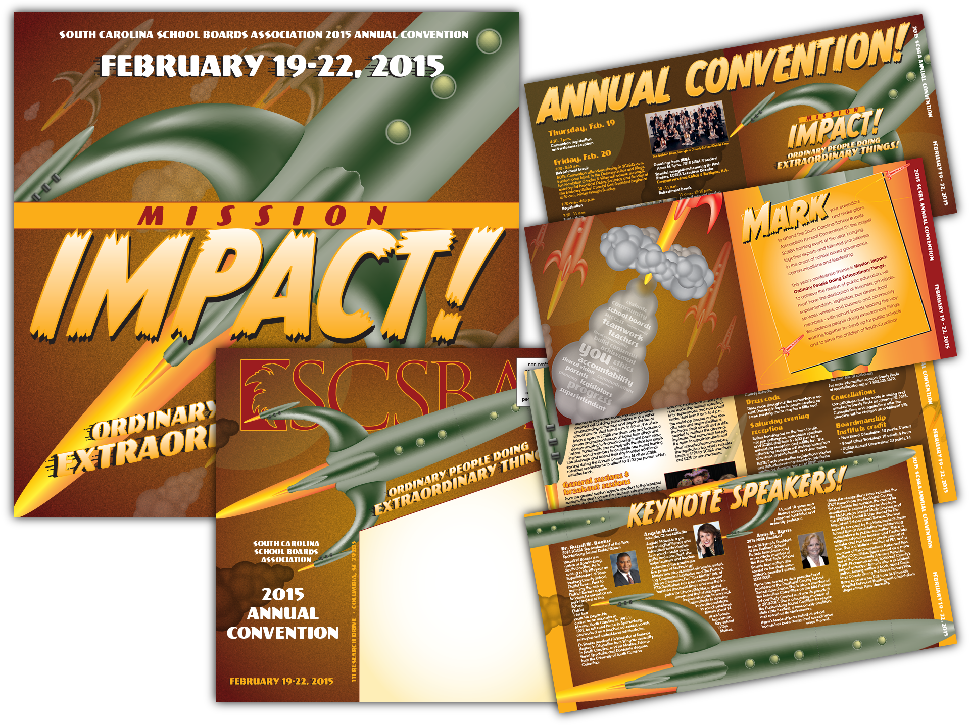 Concept, graphics and layout for annual convention campaign