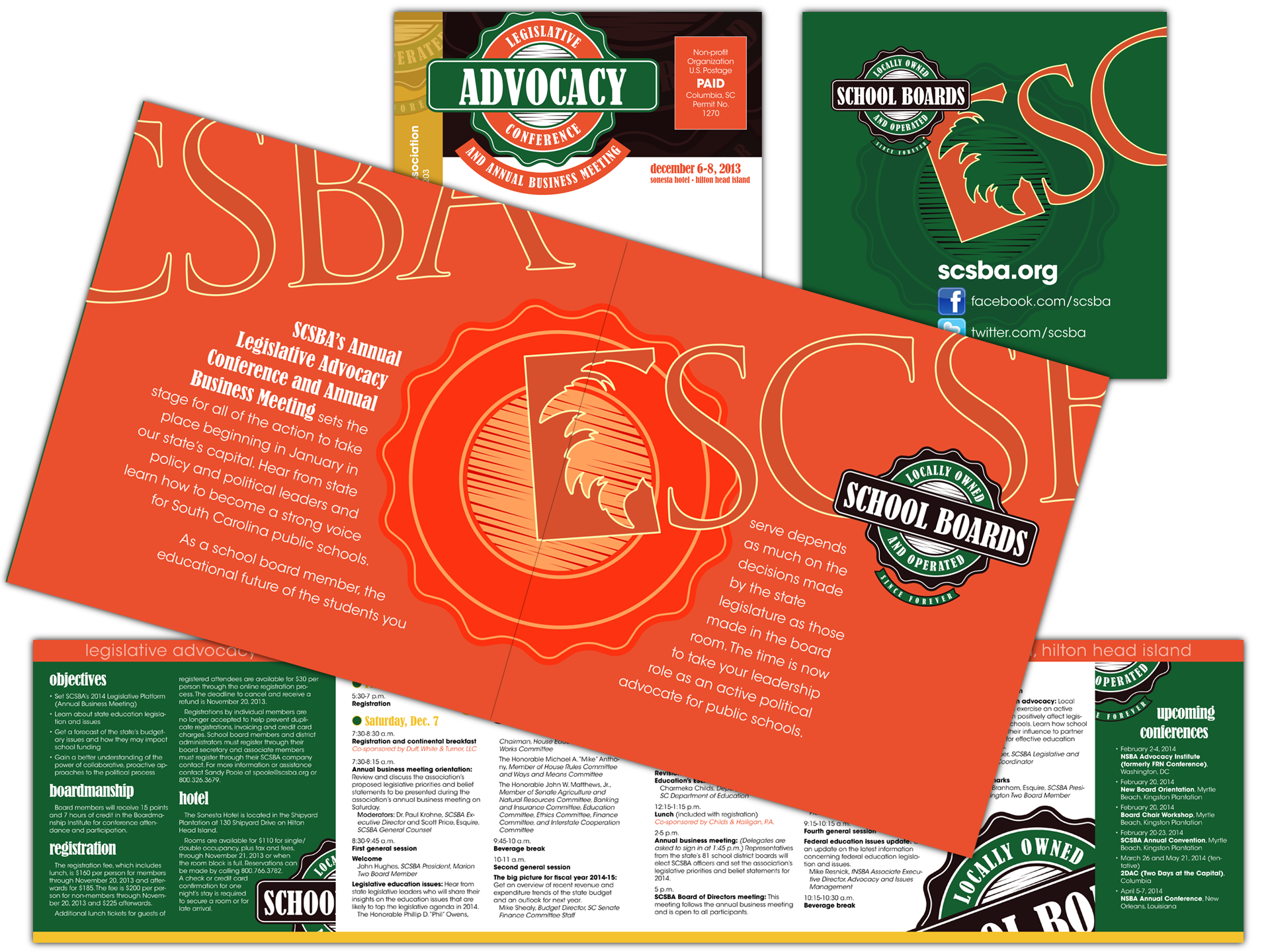 Graphics and layout for tri-fold self-mailer