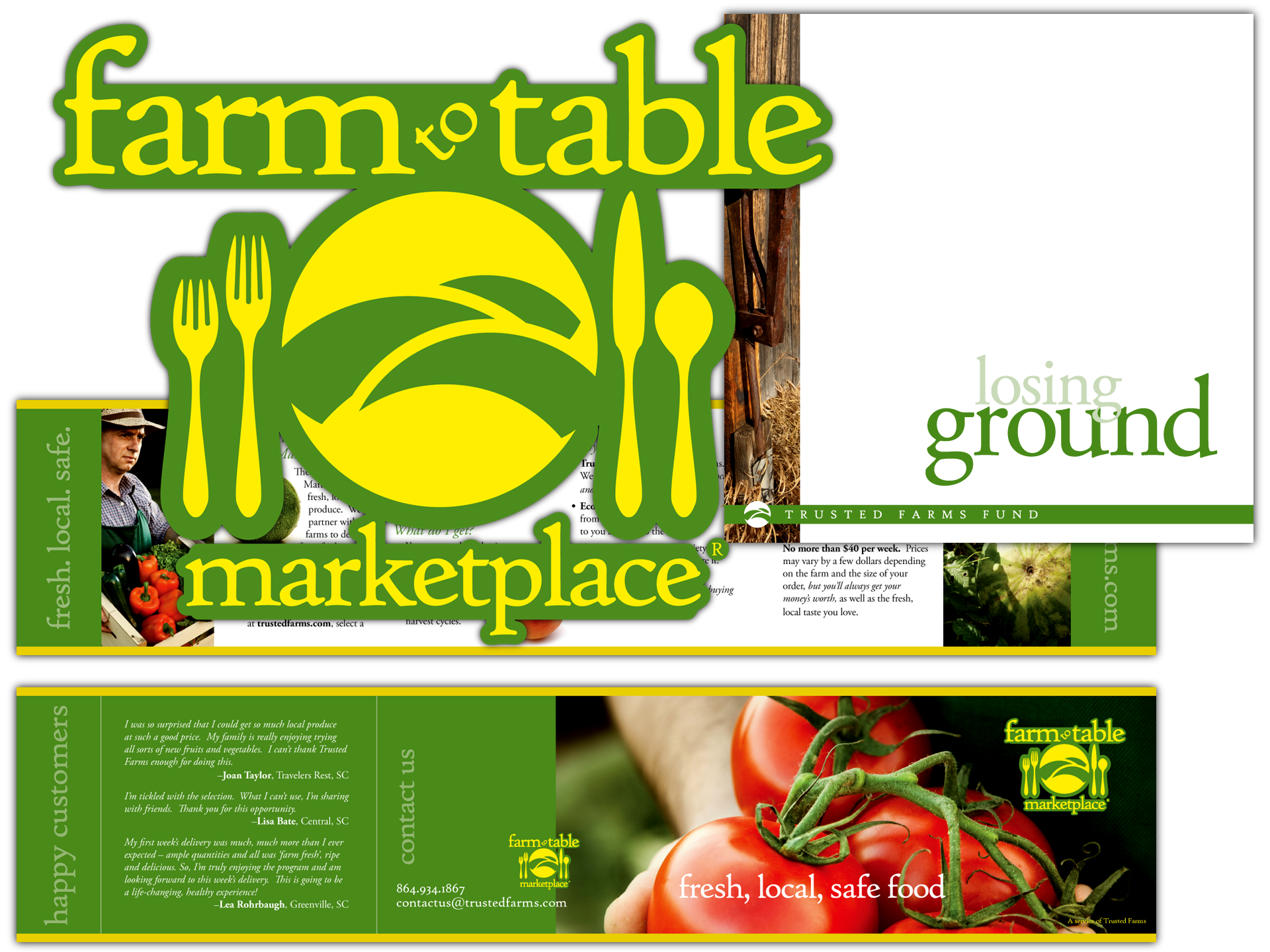Branding and layout for farm-to-table program