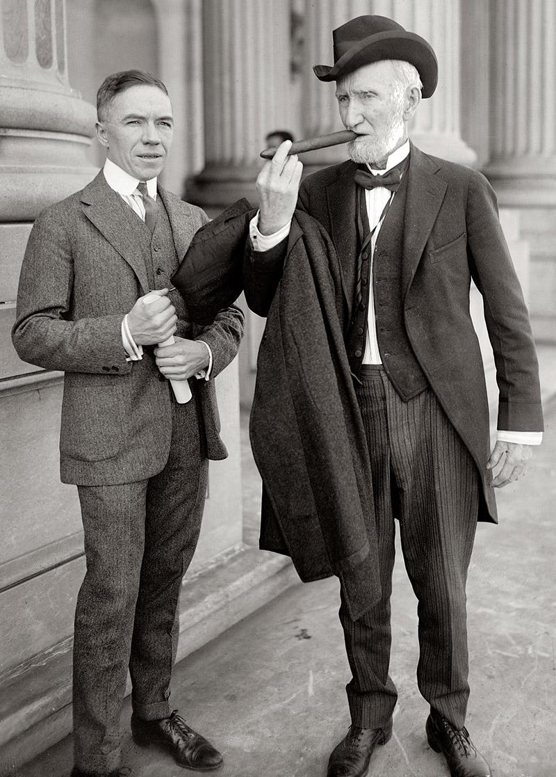 The author (left) with client Louis Cipher