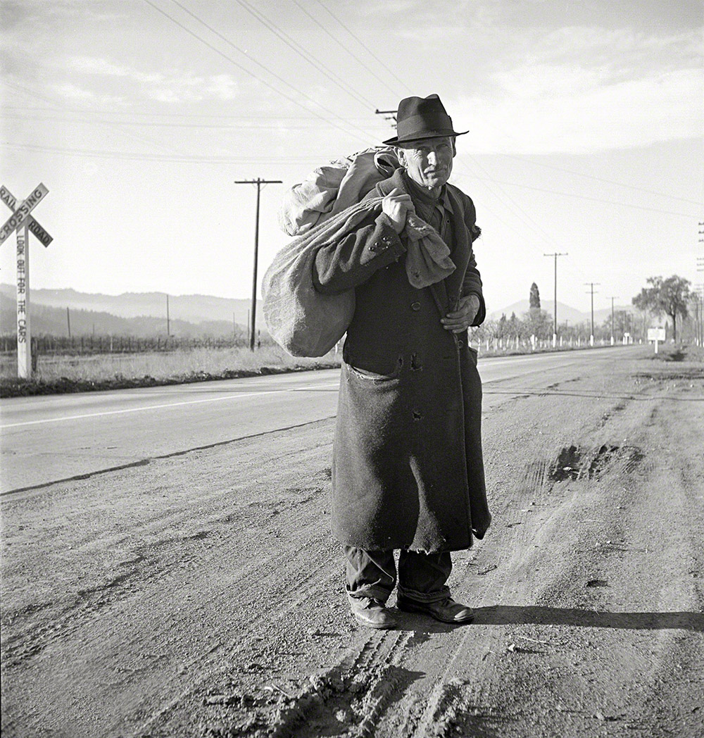 Photo by Dorothea Lange for the Farm Security Administration. Napa Valley, California, circa 1936.